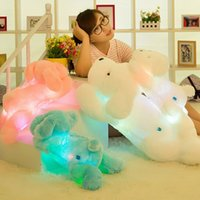 best led lights for video - New Year CM Length Creative Night Light LED Lovely Dog Stuffed dolls and Plush Toys Best Gifts for Kids and Friends