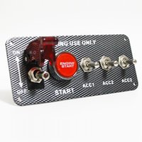 Wholesale available v car with a modified multifunction switch a key start in in carbon fiber surface aluminum switch