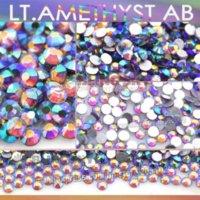 amethyst decor - SS4 mm Lt Amethyst AB Nail Rhinestones for Nails Art Glitter Crystal Decoration Non HotFix Flat Back Rhinestone decor stones