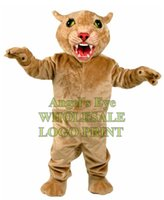 big cougar - Big Leopard Panther Cat Cougar Mascot Costume Adult Size Cartoon Character Mascotte Mascota Outfit Suit Fancy Dress SW662