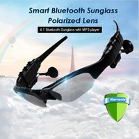 Wholesale Smart Sunglass Sports Headphone MP3 Player Wireless Stereo Bluetooth eyeglasses with Parolized light function for driving or outdoor sport