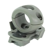Wholesale tactical helmet parts Single Clamp mount for mm flashlight Plastic glial Black DE FG