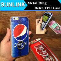 apple cola - Cool Cola Nokia Superman Captain America Design TPU Soft Case with Metal Finger Ring Back Cover for iPhone s se s Plus