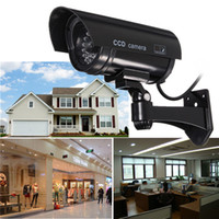 Wholesale Dummy Simulation IR Security Camera with Blinking LED and Realistic Wiring for Indoor Outdoor Deter Theft Robbery CCT_702