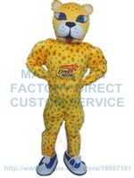 adult cheetah costumes - basketball cheetah mascot costume leopard custom cartoon character cosply adult size carnival costume