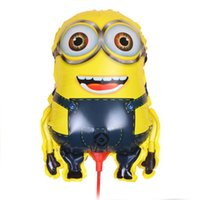 Wholesale 2pcs JUMBO Despicable Me minions balloons large ballon helium baloons for party minion party foil GLOBOS air baloes