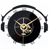 antique vinyl records - Round Musician European Fashion D Vinyl Record Wall Clock Vintage Creative Art Wall Clock Silent Non tickingWall Clock