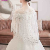beach shrug - High Quality Full Lace Bridal Wraps Jacket Without Sleeves Wedding Bolero Women Wedding Wrap Summer Beach Shrug Shawl