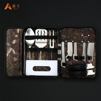 Wholesale High quality outdoor BBQ set Outdoor Tools Set with camo nylon bag for simple assembling
