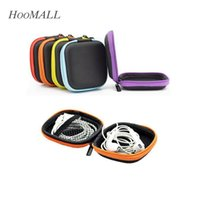 Wholesale EVA Earphone Wire Storage Box Zipper Protective Data Line Cables Storage Container Organizer Case Earbuds SD Card Box Colors
