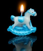 Wholesale 2016 hot sale Birthday candles cute hobbyhorse blue candles