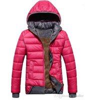 Wholesale 2016 new female models sport coat plus velvet down jacket women s winter warm hooded jacket Removable wd8162