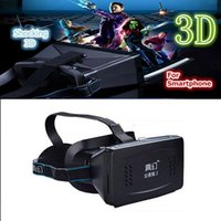 Wholesale 3D Video Head Mount Plastic Version VR Virtual Reality Glasses Magnet Google Cardboard for inch Bluetooth Controller