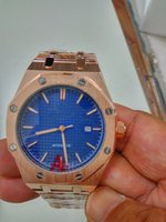 ap sale - Hot Sale Ap Auto Watch For Men OFF Shore Skeleton Blue Dial Stainless Band Transparent Back watch Hkpost
