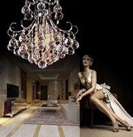 Wholesale new Modern Crystal Chandelier Living Room LED K9 Chandeliers e14 bulbs Lamp lustres de cristal indoor Lights Crystal Pendants Free ship