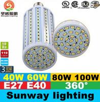 60w led - 2015 Super Bright W W W W Led Bulbs E27 E40 SMD Led Corn Lights Angle Led Pendant Lighting AC V
