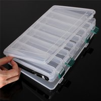 Wholesale Double Sided Fishing Lure Hooks Bait Tackle Storage Box Hard Case Waterproof Durable and Practical