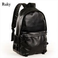 laptop name brand - High quality brand name Men Casual Backpacks New Fashion High Grade PU Leather Designer Laptop Men Schoolbag Travel Bag