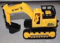 Wholesale educational toys power control excavator truck model inertia inertia mining vehicles multi color mixed shipments