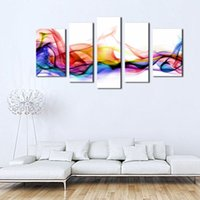 background panel - LK5112 Panel Fresh Look Color Abstract Smoke Colorful White Background Painting Print On Canvas Abstract Picture Modern Painting Unframed