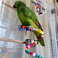 Wholesale Multicolor Beads Birds Cage Toys Pets Birds toys Parrot Toy