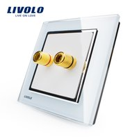 acoustic manufacturers - Manufacturer Livolo New Style White Crystal Glass Panel Gang Home Wall Sound Acoustics Socket VL W291A