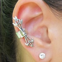 Wholesale Vintage punk Arrows without pierced ear clip earrings new European and American popular jewelry alloy new