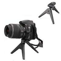 Wholesale BS S Black Portable Folding Tripod Stand for Canon Nikon Cameras DV Camcorders