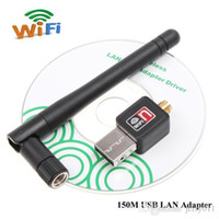 Wholesale USB Wifi M WiFi Adapter Wireless Lan Network Card with Antenna Networking Device b g n Portable