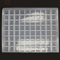 Wholesale 80 Grids Food Grade High Silicone Raw Chocolate Mould Brown Sugars Mould Flower Sugar Mould Ginger Sugar and Ice Cube Square Mould