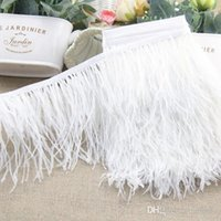 Wholesale Ostrich Feather Trimming meters Many Colors Ostrich Feather Fringe inch in Width Wedding Clothing Decoration yards Feather Trim