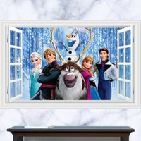 bathroom collections - 3D Windows Generic Frozen People collage collection Wall Decal Decor Sticker kindergarten living room vinyl Inspiration art