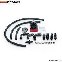 Wholesale EPMAN Racing Adjustable Fuel Pressure Regulator Gauge Kit BLACK BLACK Fittings With Oil Line EP MGTE