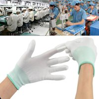 Wholesale 5 Pairs Anti Static ESD Safe Gloves Working Gloves PC Antiskid Non slip