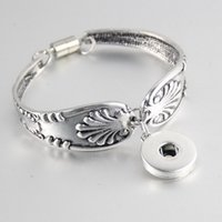 antique snap cuff links - Brand New Pieces mm Ginger Snaps Women s Retro Alloy Antique Silver Plated Cuff Charm Bracelets
