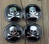 Wholesale 20PC X mm BLACK THE PUNISHER Skull FACE Car Center Caps Badge Auto Car Wheel Hub Caps Emblem