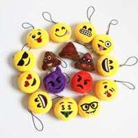 big bag toys - QQ Emoji Key Chains Small Pendant Smiley Emoticon Keychain QQ Expression Soft Plush Toys Key ring Mobile Pendants Phone Strap Bag Chains CM