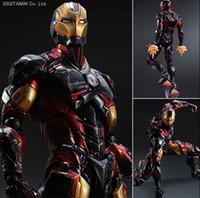 age art gift - Play Arts Kai Iron Man Super Hero Age of Ultron Tony Stark Hulkbuster PA cm PVC Action Figure Doll Toys Kids Gift Brinquedos