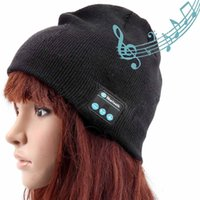apple beanie - Warm Gift Bluetooth Music Hat Soft Warm Beanie Caps with Stereo Headphones Headsets Speakers Wireless Microphone Bluetooth earphones