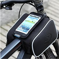 Wholesale 2016 New ROSWHEEL Bicycle Bag MTB Road Bike Front Frame Tube Bag Touch Cycling Bag for quot Phone Repair Tools Purse Waterbottle