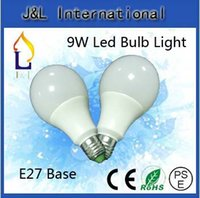 Wholesale Hot sales LED ball bulb Plastic Bulb Light for W lamp White shell White or Warm white color AC85 V