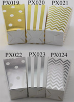 craft and party supplies - Foil Gold and Foil Silver Popcorn Box Event Party Supplies eco craft paper Candy Box packs MIX