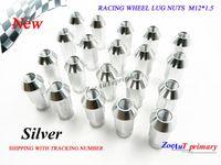 Wholesale 20PCS set Silver JDM RACING WHEEL LUG NUTS M12 FOR Universal JDM Car for honda etc Silver