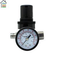 Wholesale New bar psi Air Line Pressure Regulator Control Unit Valve Gauge Thread For Air Spray Sprayer Paint Gun order lt no track