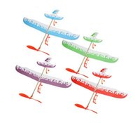 Wholesale Thunderbird Teenagers Aviation Model Planes Powered By Rubber Band Flying Airplane Plane Glider DIY Assembly Model