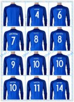 Wholesale Fast Thailand Soccer Jersey European Cup France GRIEZMANN GIROUD PAYET POGBA Blue Home White Long Sleeve Jerseys Shirt