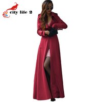Wholesale Winter Long Coat Women European Style High Quality New Brand Cashmere Coat New Autumn Dames Jassen