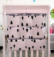 Wholesale Promotion Kitty Mickey cm Baby Bed Accessories Mesh Fabric Hanging Laundry Storage Bag