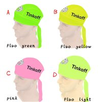 bank hat - 2016 Saxo bank tinkoff Bike Cycling cap Sun scarf hat Bicycle riding sports hat Convenient and practical bicycle hood Fluo green yellow