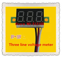 Wholesale Three line voltage meter Wire voltmeter inch header motorcycle voltmeter DC V V DC voltage digital display table